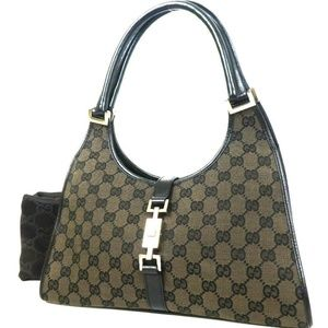 Authentic GUCCI 002-1067-1705 Jackie line GG canva